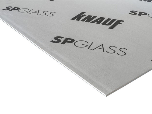 placa de 12,5 mm spglass knauf - fibroyeso- steel frame