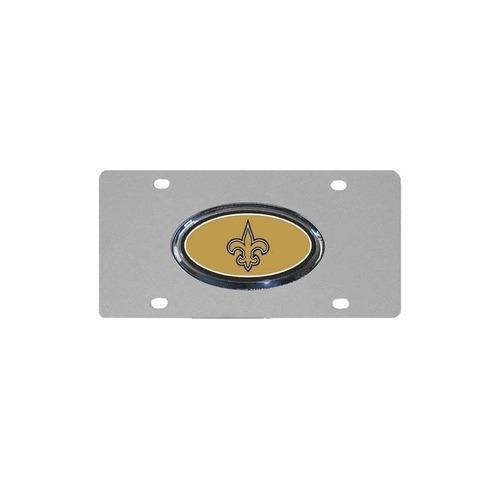 placa de acero de nfl new orleans saints con el logotipo lev