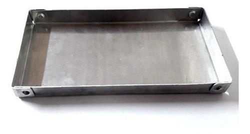 placa de aluminio bandeja asadera reforzada 10x20x2 cm