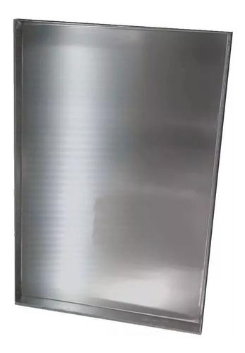 placa de aluminio bandeja asadera reforzada 35x45x2 cm