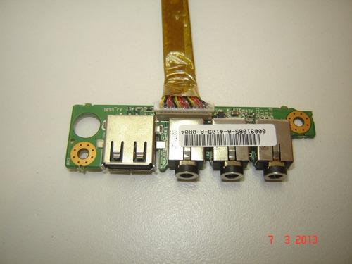placa de áudio c/ usb notebook positivo premium p437b