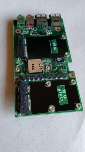 placa de audio e usb notebook lenovo sl400 sl500 (42w8040)