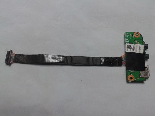 placa de audio fone+microfone+usb p/notebook itautec w7425