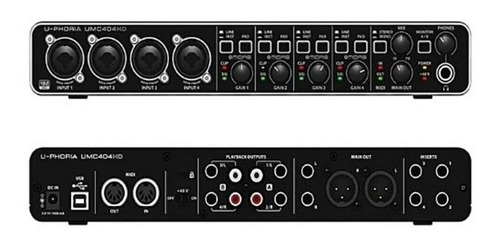 placa de audio interface behringer umc404hd