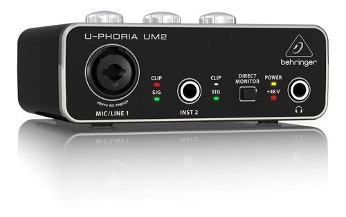 placa de audio interfaz behringer um2 usb 48khz