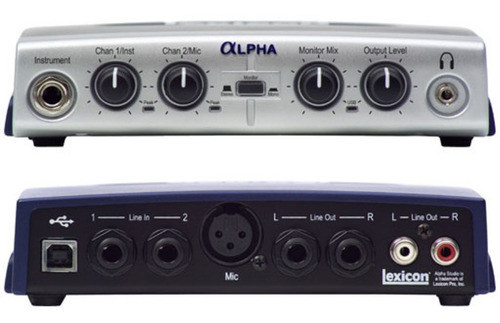 placa de audio lexicon alpha externa usb interface estudio