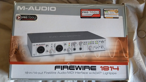 placa de audio m-audio firewire 1814 (18 in 14 out)