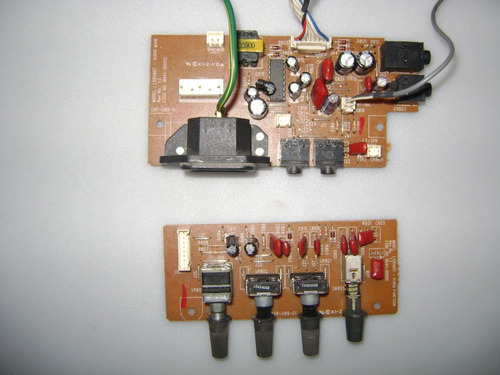 placa de áudio + placa de volume lg lx560t