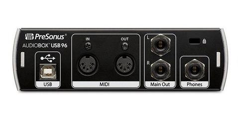 placa de audio presonus audiobox usb 96 interfaz grabación