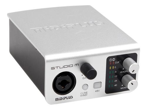 placa de audio usb midiplus studio m 24 bits ideal grabacion