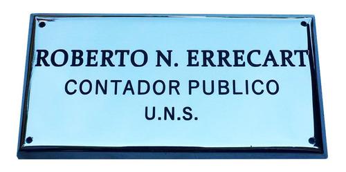 placa de bronce, profesional, medidas:15x13cm. para estudios