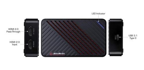 placa de captura avermedia live gamer ultra gc553 4k60p hdr