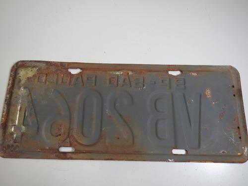placa de carro antiga são paulo