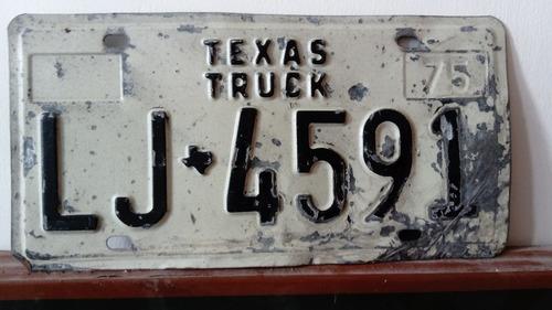 placa de coleccion u s a texas, 1975, decorativa especial