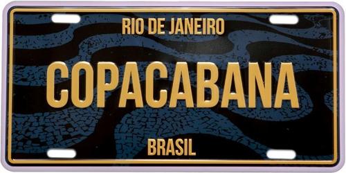 placa de decoração cromarca - copacabana/rj
