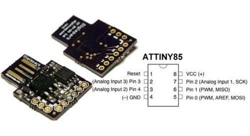 placa de desarrollo arduino usb attiny85 digispark