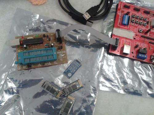 placa de desenvolvimento pic,gravador pic,4 modulo bluetooth