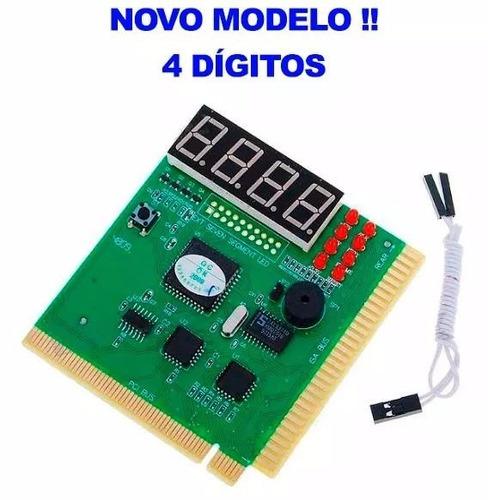 placa de diagnóstico pc analyzer - 4 digitos - novo modelo !