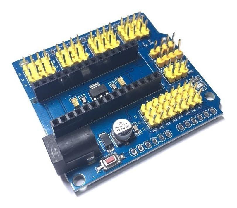 Placa De Expansão Shield Adaptador Base Arduino Nano V3 0