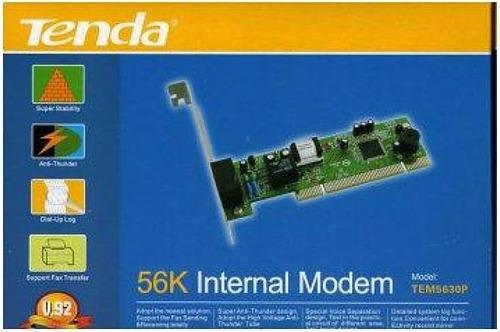 placa de fax modem 56k tenda