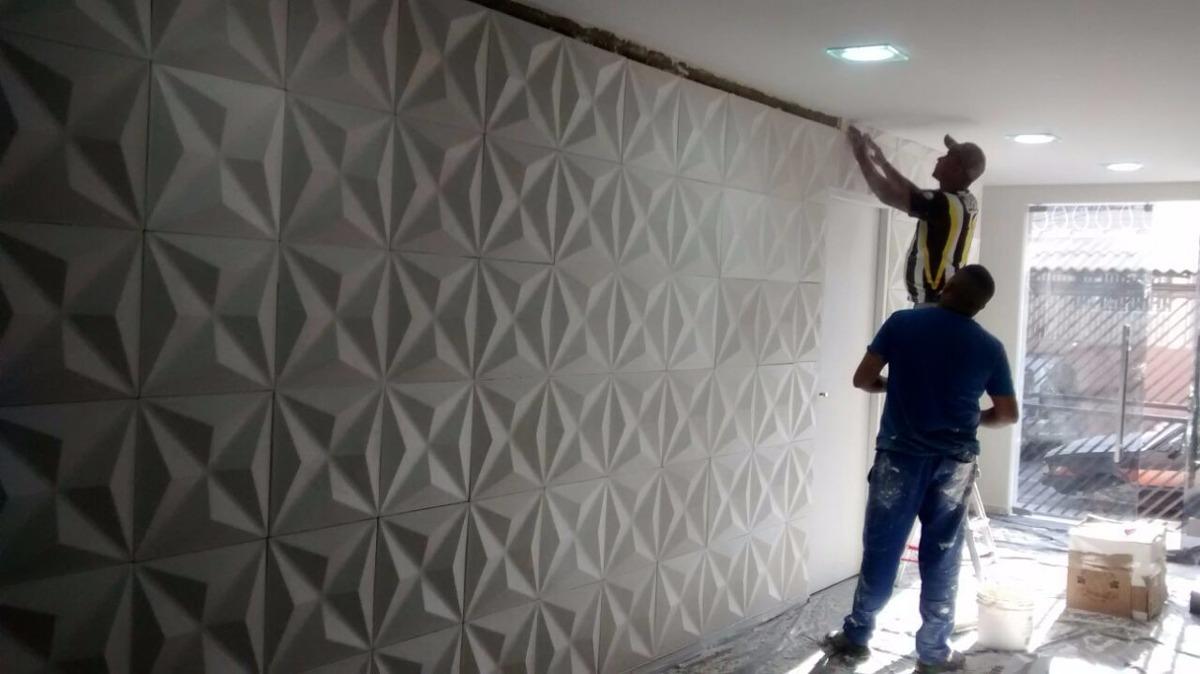 Placa de gesso 3d board cullinans revestimento de parede for Placas decoradas para pared