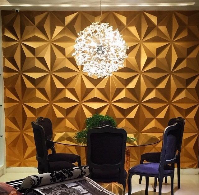 Placa de gesso 3d board cullinans revestimento de parede for Placas pvc para paredes