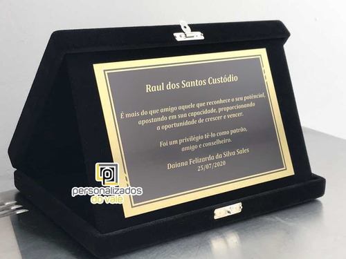 placa de homenagem especial