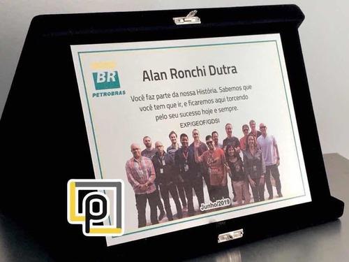 placa de homenagem funcionário