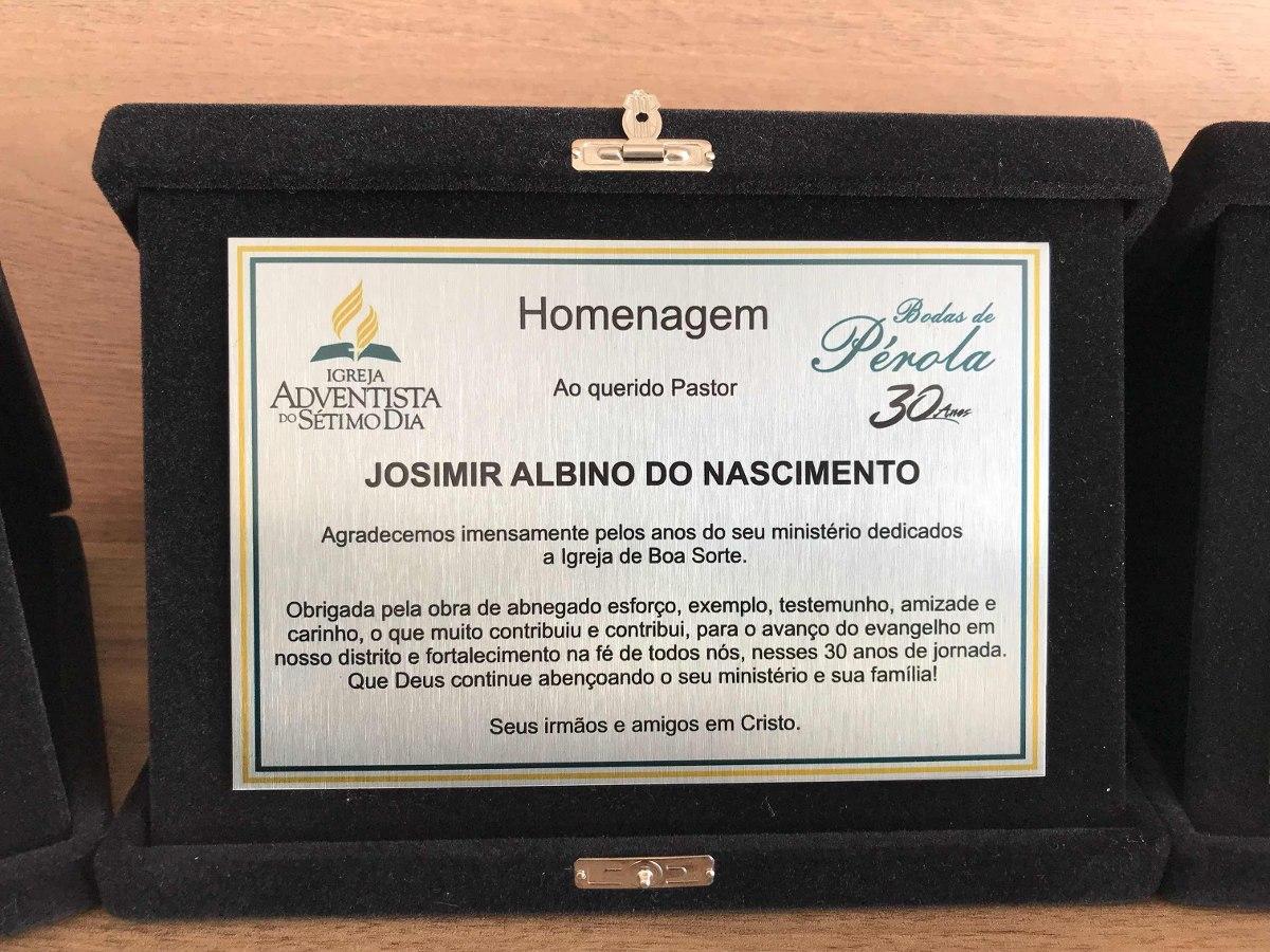 Placa De Homenagem Inox, Formatura, Professor