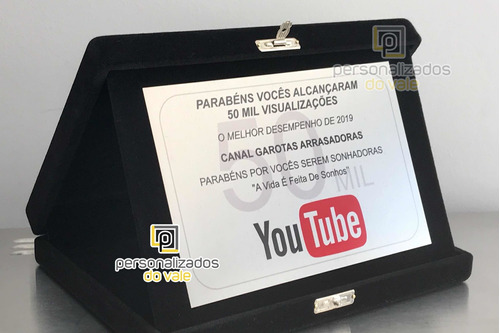 placa de homenagem you tube