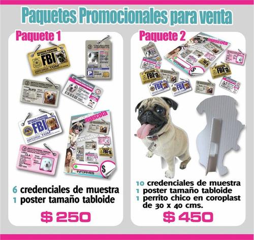 placa de identificacion para mascotas pvc tipo ine