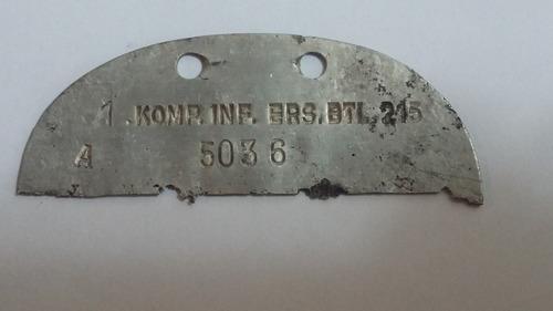 placa de identificação alemão (dog tag)