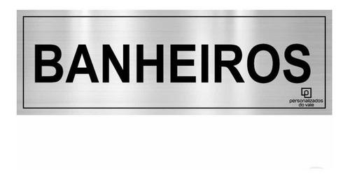 placa de identificação inox