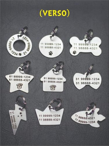 placa de identificação pet / cachorro / gato / gravada laser