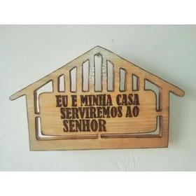 Placa De Madeira Formato De Casa