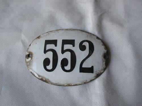 placa de numeración esmaltada