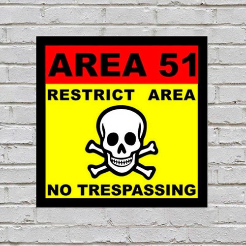 placa de parede decorativa: area 51 - shopb