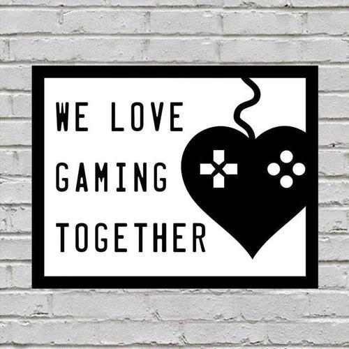 placa de parede decorativa we love gaming together rcr games