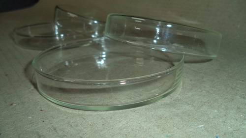 placa de petri vidro boro kit c 2 unidades 90x13mm