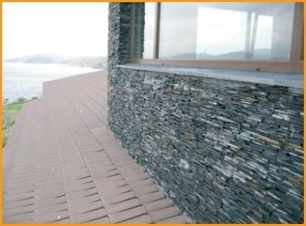 placa de piedra muralla laja negra revestimiento pared int/e