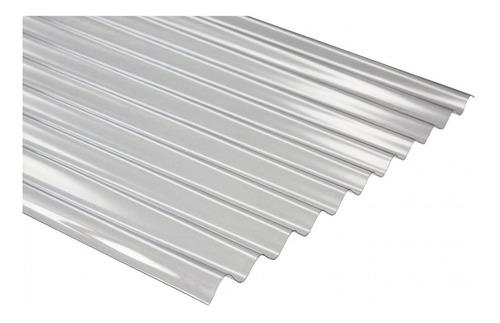 placa de policarbonato acanalada 0,80 mm x 6 mts x 1,10 mts