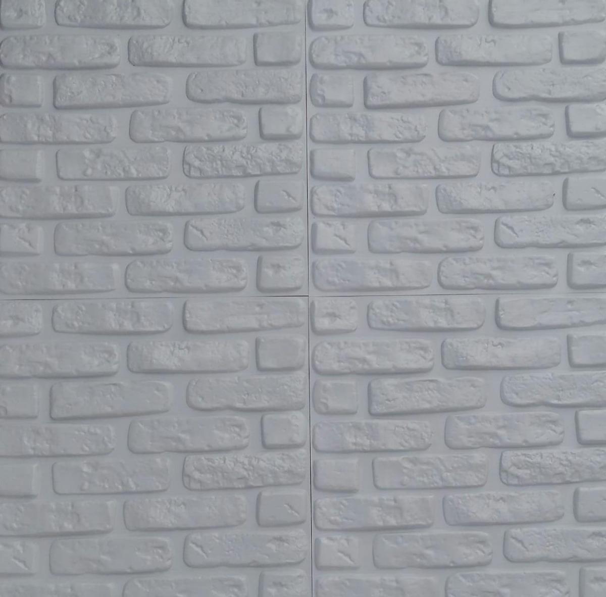 Placa de poliestireno tijollinho 3d de parede 50x50cm r - Placa de poliestireno ...