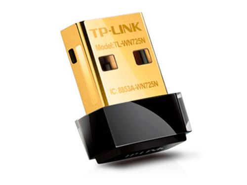 placa de red adaptador wifi usb tp link 725n 150 mbps nano
