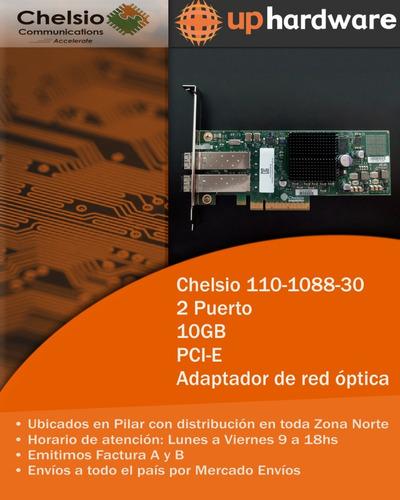 placa de red fibra optica chelsio 2 puerto 10gb