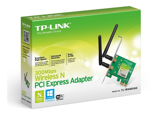 placa de red inalambrica tp link wn881nd pci-e 300mbps wifi