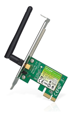 placa de red tp link wn781nd pci-e 150mbps  pc wifi cuotas