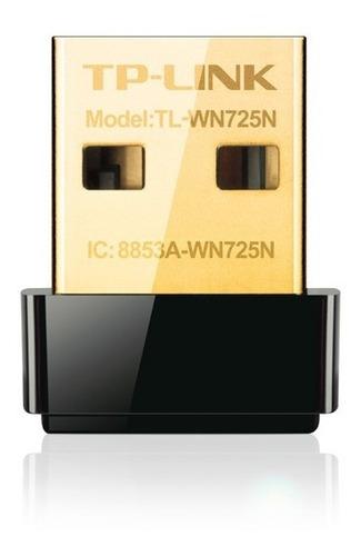 placa de red tplink wifi usb wn725n 150mbps nano pc notebook