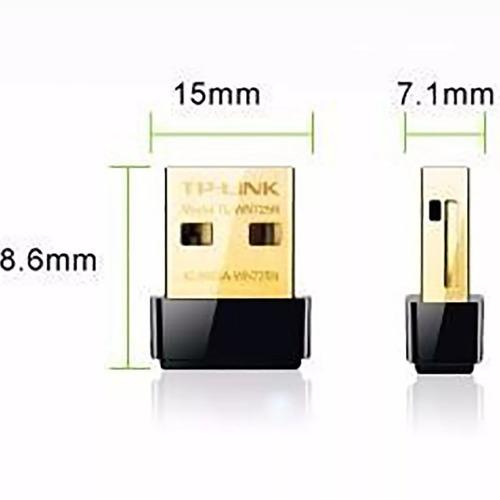 placa de red usb tp-link 725n 150mbps wireless n nano