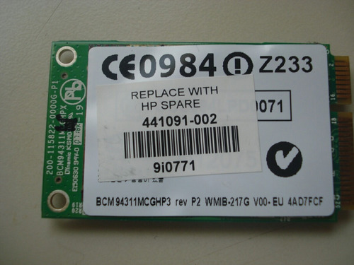 placa de red wifi broadcom bcm94311mcgbp3