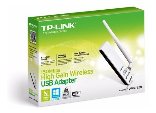 placa de red wifi tp-link tl wn722n adaptador usb 722n 150mb